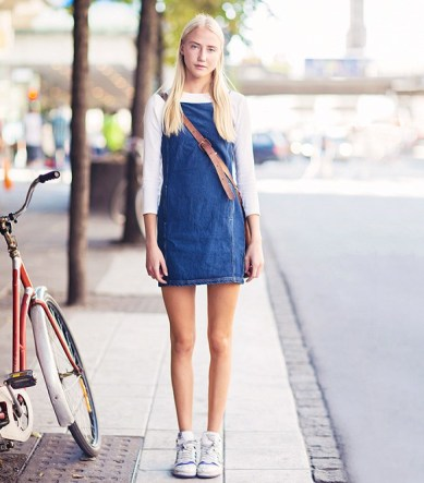 denim-dress-sneakers-via-stockholm-street-style