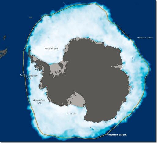 record hielo antartico