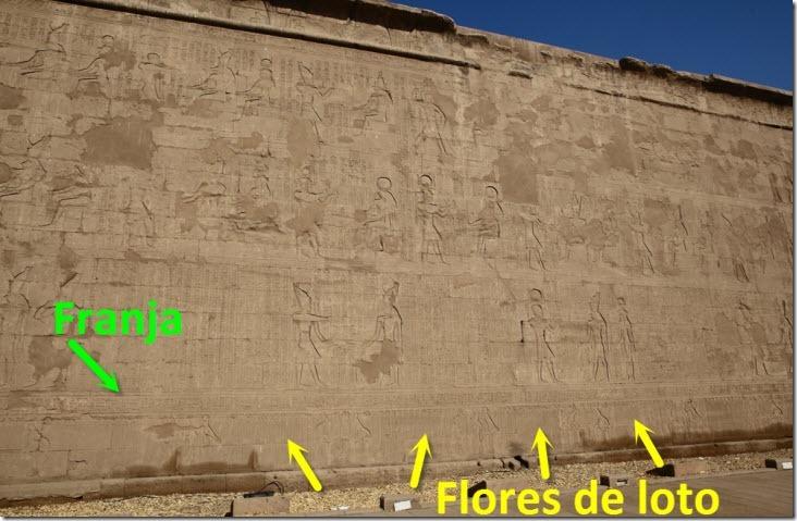 Pared templo edfu