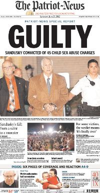 Front Page from the Patriot-News on June 23, 2012