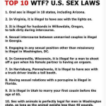 The Funny Pages – Strange Sex Laws In The United States Of America