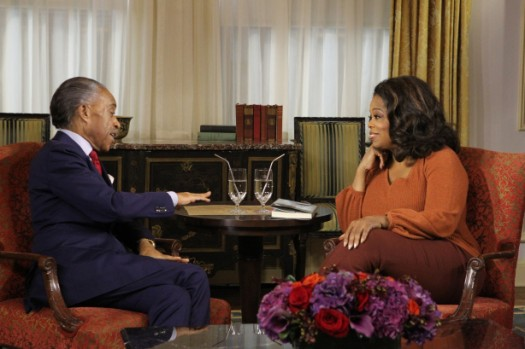 Sharpton and Oprah Winfrey