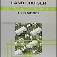 1999 Toyota Land Cruiser Wiring Diagram Manual Original