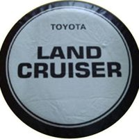 Black Logo Car Spare Wheel Cover Spare Tire Cover 16 Inch For Toyota Land Cruiser
