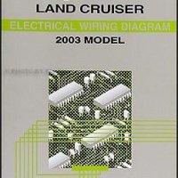 2003 Toyota Land Cruiser Wiring Diagram Manual Original