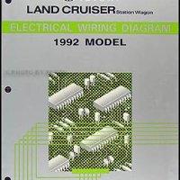 1992 Toyota Land Cruiser Wiring Diagram Manual Original