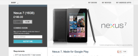 16GB Nexus 7 Sold Out on Google