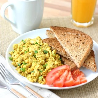 This flavorful Basic Tofu Scramble is simply delicious and can be endlessly adapted to your liking with different veggies, herbs, and spices.