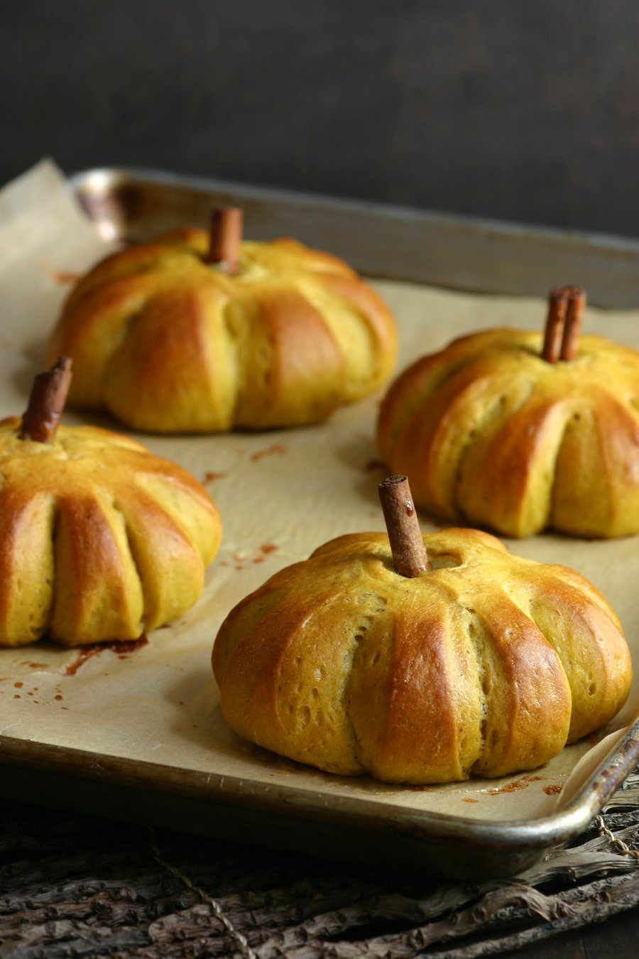 These delightful vegan Sweet Pumpkin Buns feature the comforting flavor of pumpkin along with warm spices and a hint of sweetness.