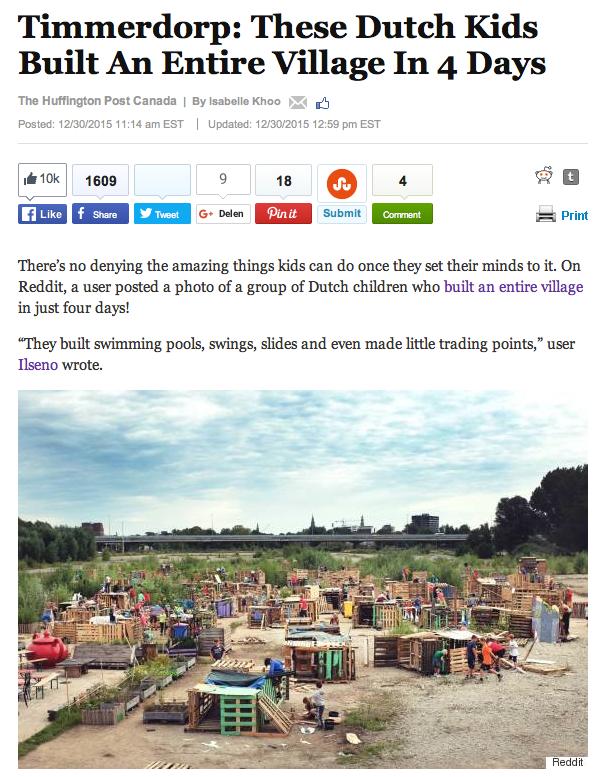 Timmerdorp Groningen in de Huffington Post