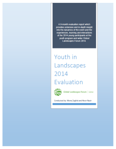Youth in Landscapes 2014 Evaluation - cover
