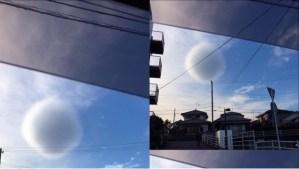 Nube esférica sorprende en Japón