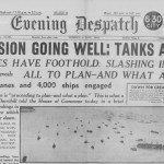 D Day Newspapers Birmingham Evening Dispatch Header