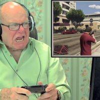 Rentner spielen das 1. Mal GTA V