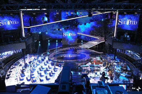 Foto palco di Sanremo 2011