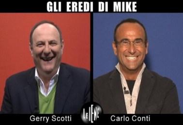Gerry Scotti e Carlo Conti Le Iene intervista doppia Foto