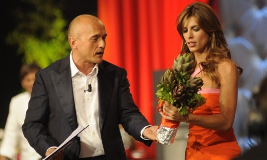 Foto di Alfonso Signorini ed Elisabetta Canalis a La notte degli chef