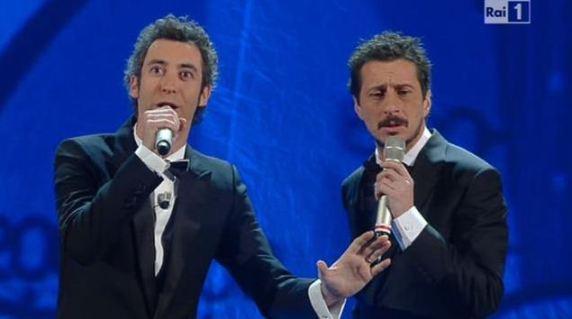 Foto di Luca e Paolo a Sanremo 2012