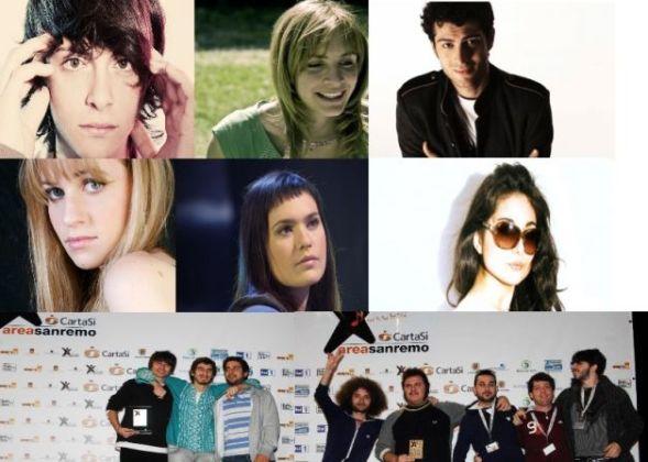gli otto partecipanti a sanremo giovani 2012