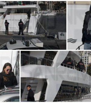 Le immagini del sequestro dello yacht Villa sul mare