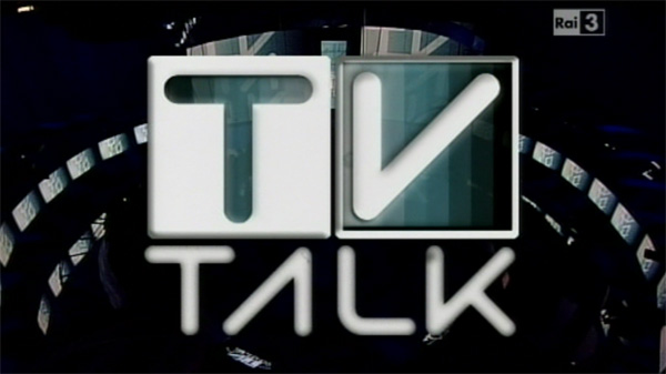 Tvtalk logo bianco nero