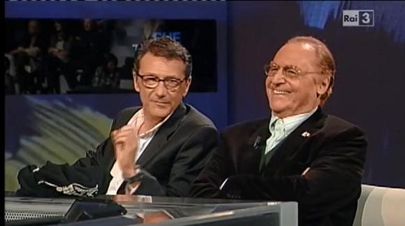 Che tempo che fa ospiti di Fabio Fazio Renzo Arbore e Gegé Telesforo