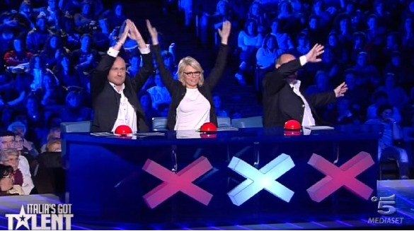 Foto della giuria di Italia's got talent finale del 10 marzo