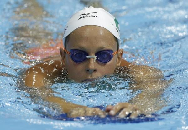 Foto di Federica Pellegrini in vasca alle Olimpiadi 2012