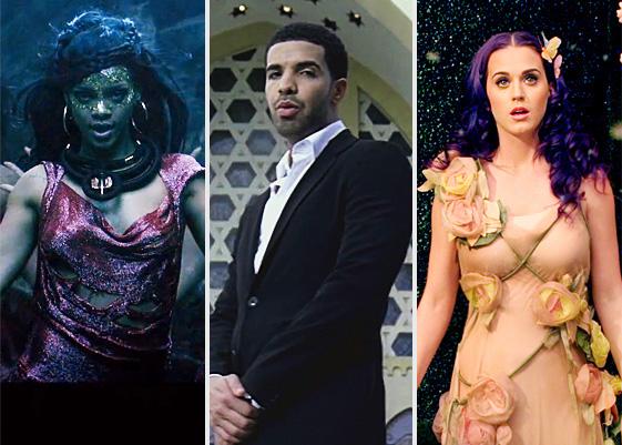i favoriti Rihanna, Drake e la Perry