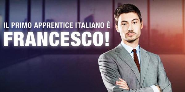 francesco menegazzo the apprentice vincitore maratona cielo