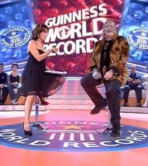 L'uomo gatto con barbara D'Urso a Lo Show dei Record