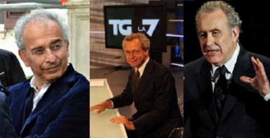La7 a Cairo: parlano Mentana, Lerner e Santoro