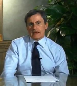 Il sindaco di Roma durante il video