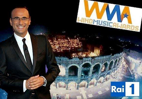 Carlo Conti ai Wind Music Awards