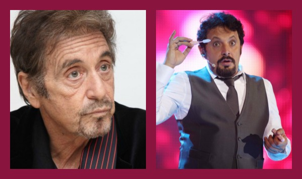 Foto di Al Pacino ed Enrico Brignano ad Amici 12