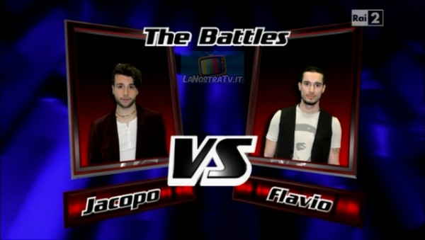 Foto di Jacopo vs Flavio The Voice of Italy