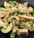 foto seitan e verdure cotto e mangiato