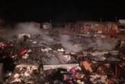 Incendio in baraccopoli in contrada Paglia, nessun ferito fra i 250 occupanti
