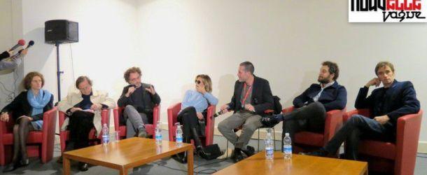 """Conferenza stampa di presentazione de """"Il venditore di medicine"""" di Antonio Morabito con Claudio Santamaria e Isabella Ferrari"""