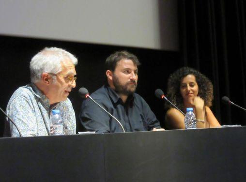 Lambert Botey, Pablo Sancho París i Núria Nia presenten la projecció d'Aigua Ferma a La Filmoteca de Catalunya