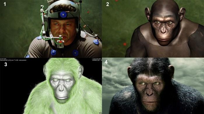 Andy Serkis interpretando a César en 'Rise of the planet of the apes'. Imagen tomada de alessandroborelli.it
