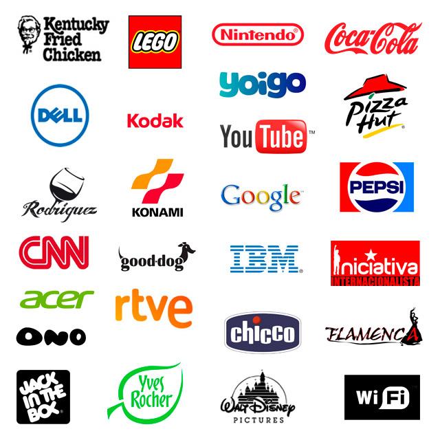 Varios logotipos de marcas y empresas.