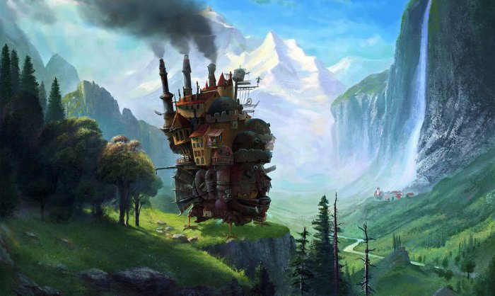 Obra de Fantasio inspirada en la película 'El castillo ambulante'