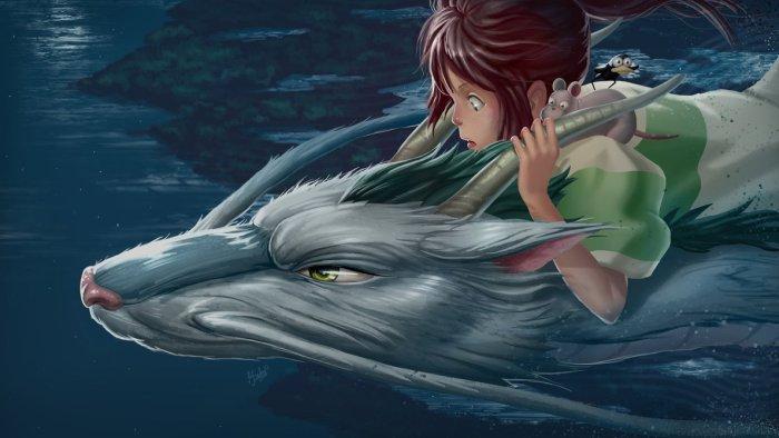 Obra de Dylean basada en un frame de la película 'El viaje de Chihiro'