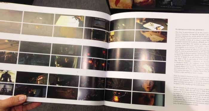 Libro de arte con imágenes del proceso de previsualización.