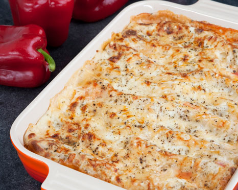 RECIPE Roasted Pepper Cannelloni