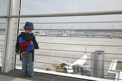 Kleiner Mann auf Reisen
