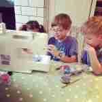 eddie teaching sewing