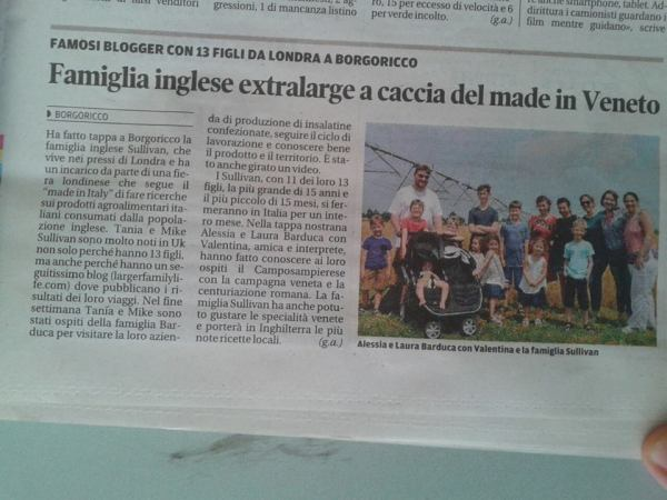 sullivan family in italian newspaper june 2015