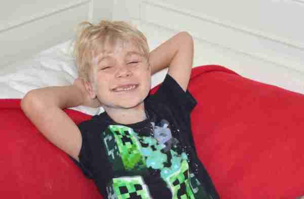 Ollie's still smiling!